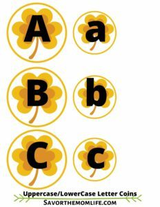 Uppercase and Lowercase Letter Coins