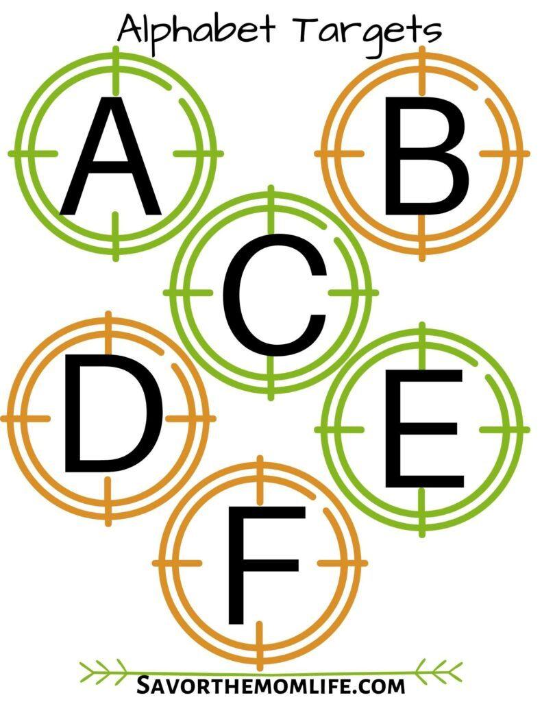 Alphabet Targets