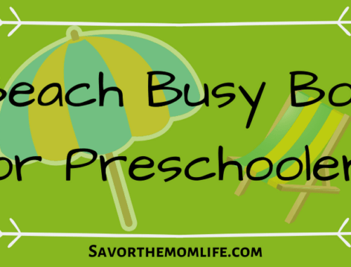 Beach Busy Box for Preschoolers