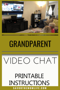 Grandparent Video Chat with Printable Instructions