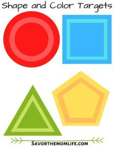 Shape and Color Targets