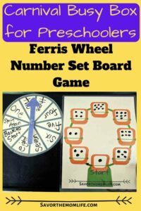 Carnival Busy Box for Preschoolers- Ferris Wheel Number Set Board Game