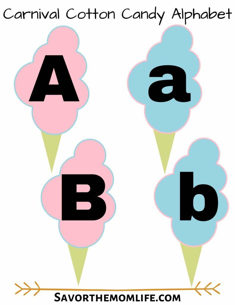 Carnival Cotton Candy Alphabet