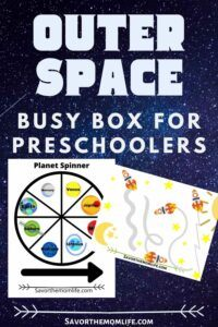 Outer Space Busy Box for Preschoolers