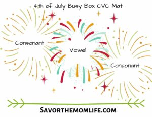 4th of July Busy Box CVC Mat