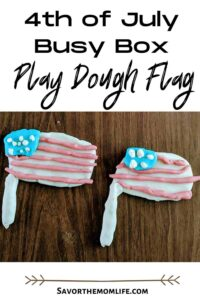 4th of July Busy Box Play Dough Flag