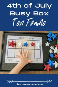 4th of July Busy Box Play Ten Frame
