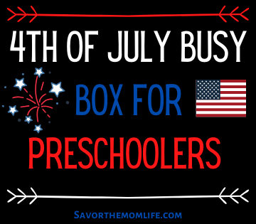 4th of July Busy Box for Preschoolers