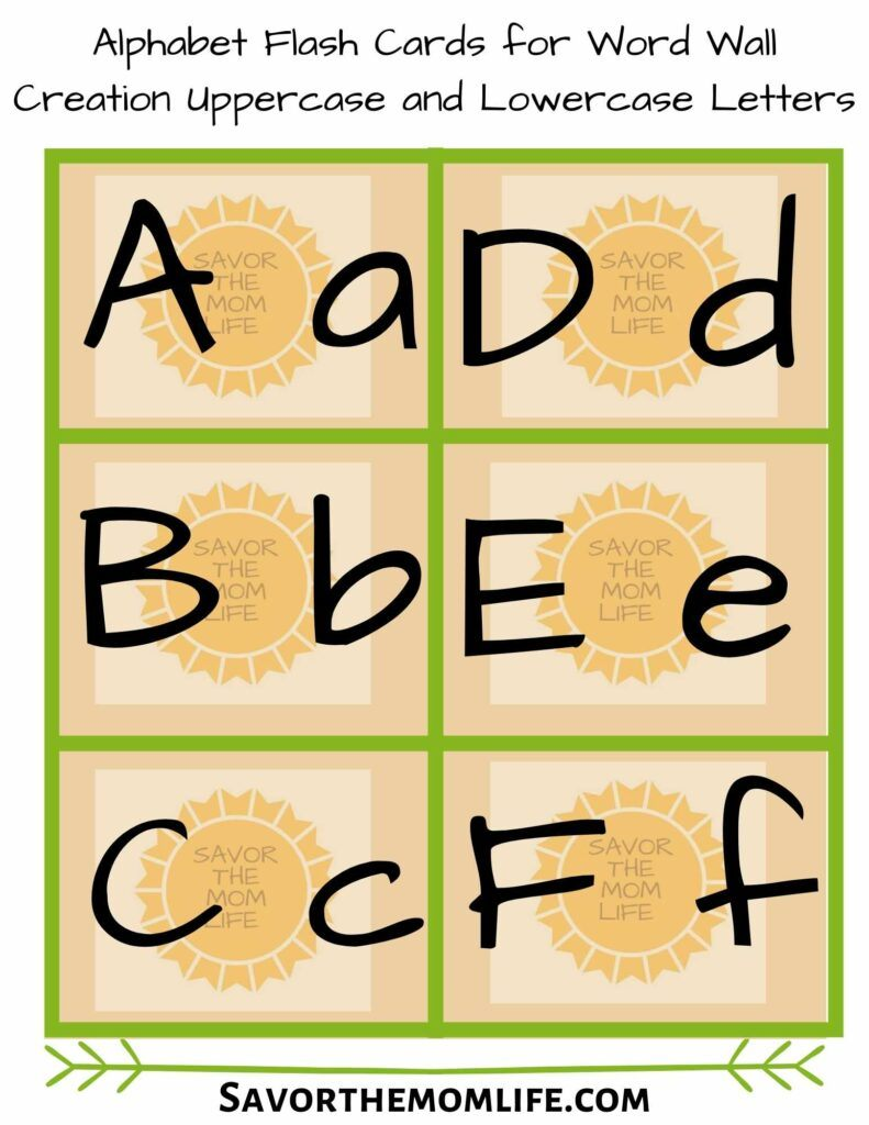 Word Wall Alphabet Free Download