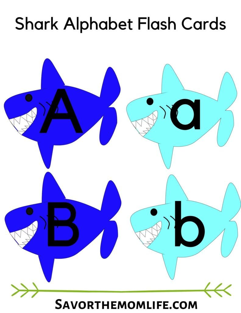 Shark Alphabet Flash cards