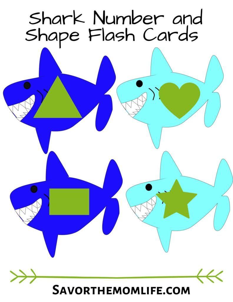 Shark Shape Flashcards