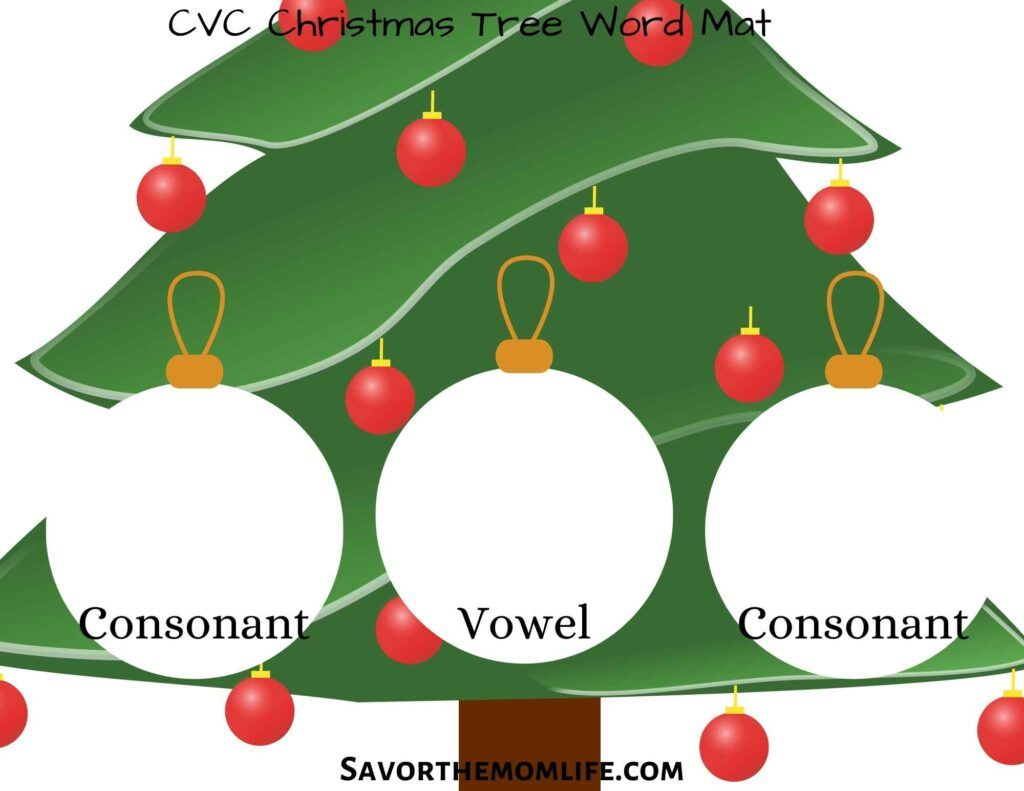 Christmas Busy Box CVC Mat
