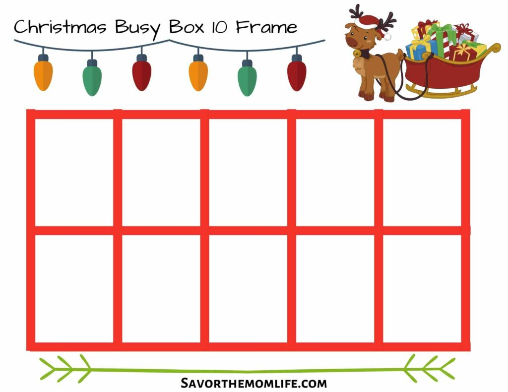 Christmas Busy Box 10 Frame