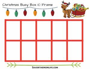 Christmas Busy Box 10 Frame