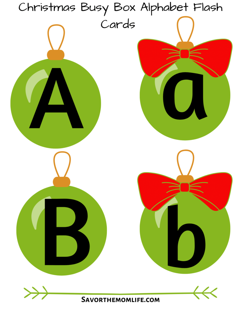 Christmas Busy Box ABC Flash Cards