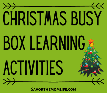 Christmas Busy Box Learning Activities