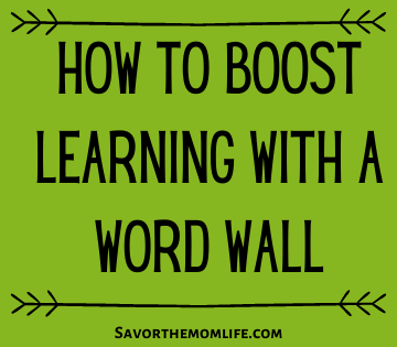 How to Boost Learning with a Word Wall