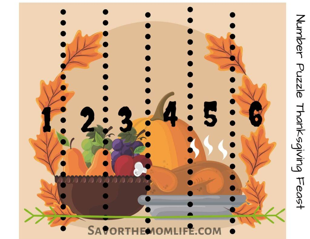 Thanksgiving Feast Number Puzzle