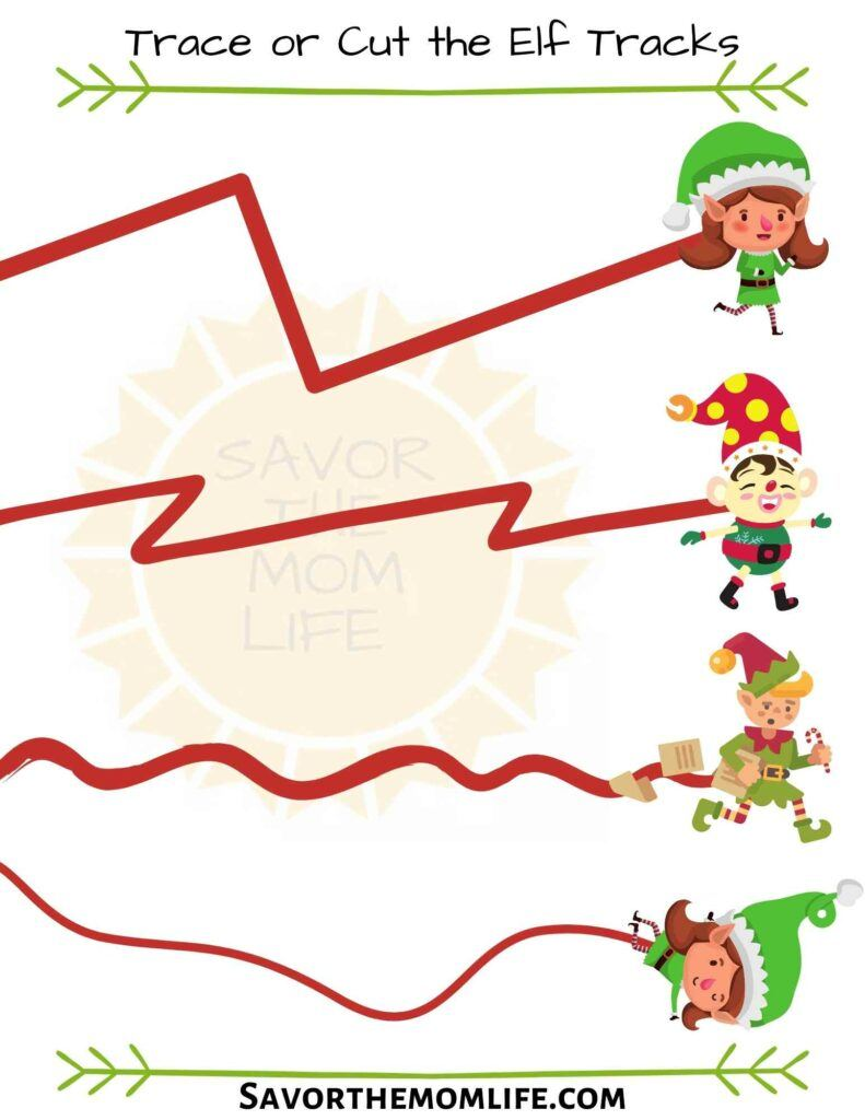 Trace or Cut the Elf Tracks
