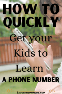 How to Quickly Get Your Kids to Learn Your Phone Number