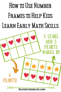 How to Use Number Frame Fun to Help Young Kids Learn Math