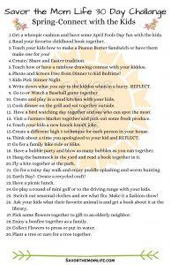 Savor the Mom Life 30 Day Challenge- Spring Edition