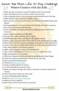 Savor the Mom Life 30 Day Challenge- Winter Edition
