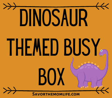 Dinosaur Themed Busy Box