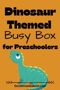 Dinosaur Themed Busy Box for Preschoolers