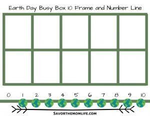 Earth Day Busy Box 10 Frame and Number Line