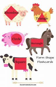Farm Shape Flashcards