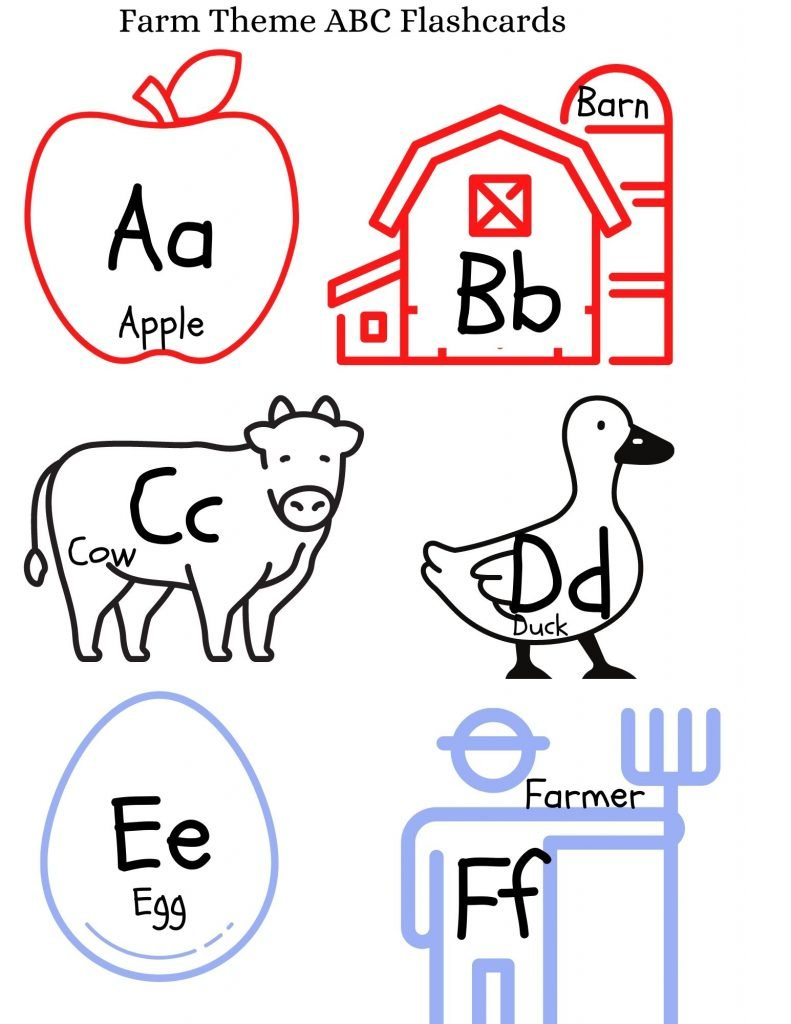 Farm Theme ABC Flashcards