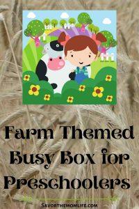 Farm Themed Busy Box for Preschoolers