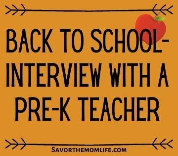 Back to School- Interview with a Pre-K Teacher